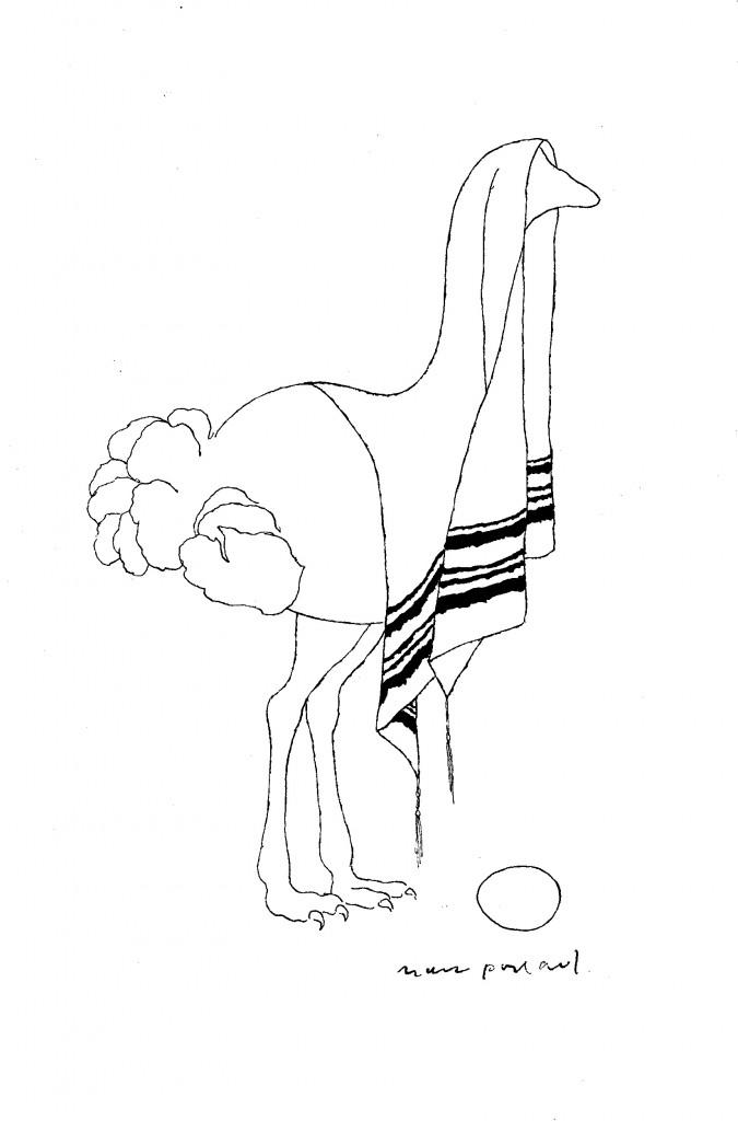 Der Vogel Strauß. (C) Mark Podwal