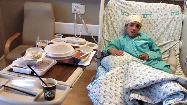 Ahmed Manasra im Krankenhaus (Foto: Ynet)