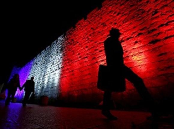 Solidarität mit Paris in Jerusalem