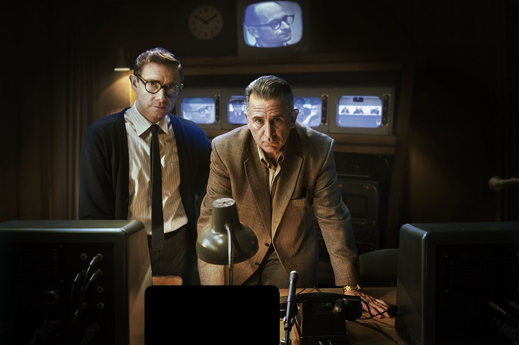 WARNING: Embargoed for publication until: 13/01/2015 - Programme Name: The Eichmann Show - TX: 20/01/2015 - Episode: n/a (No. 1) - Picture Shows: ***EMBARGOED UNTIL 13th JAN 2015*** Leo (ANTHONY LAPAGLIA), Milton (MARTIN FREEMAN) - (C) Feelgood Fiction - Photographer: Steffan Hill