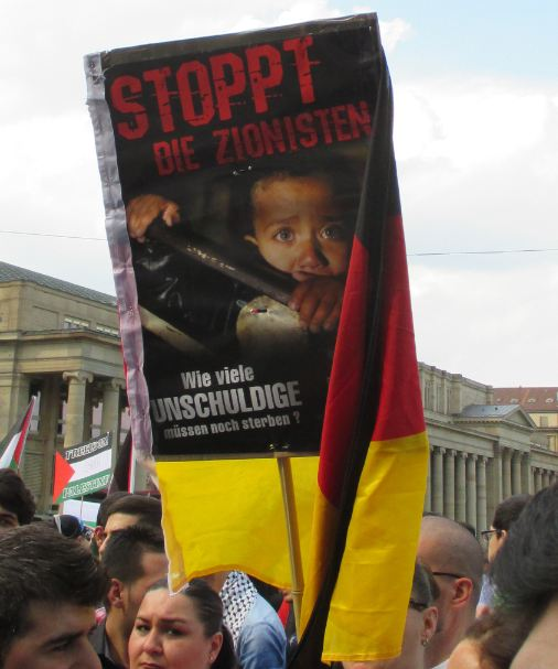 Anti-Israel-Demo Stuttgart 25.07.14