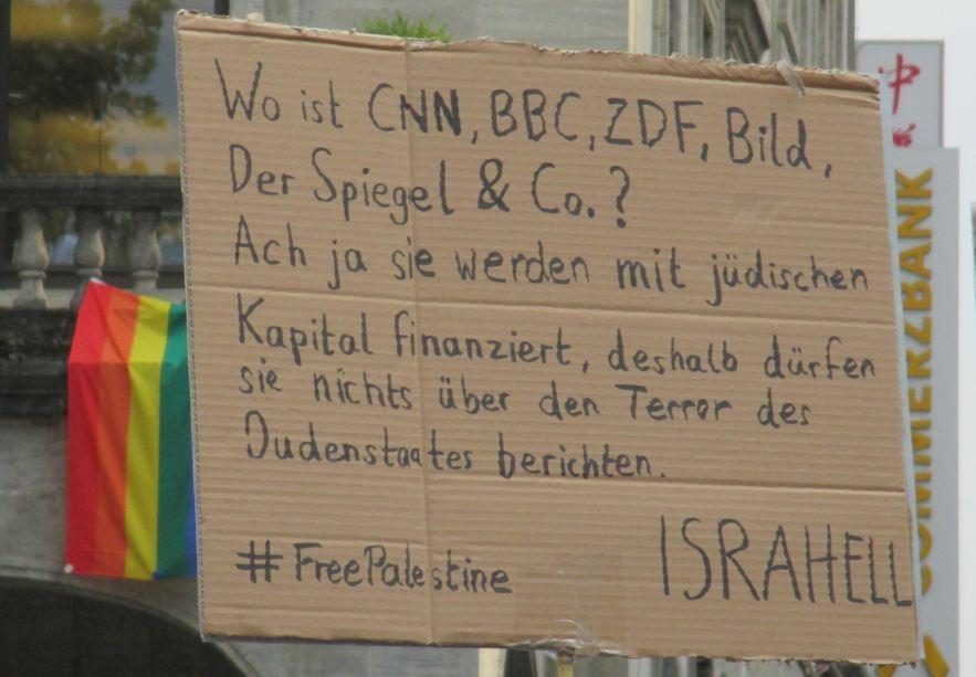 Anti-Israel-Demo´Stuttgart  25.07.14