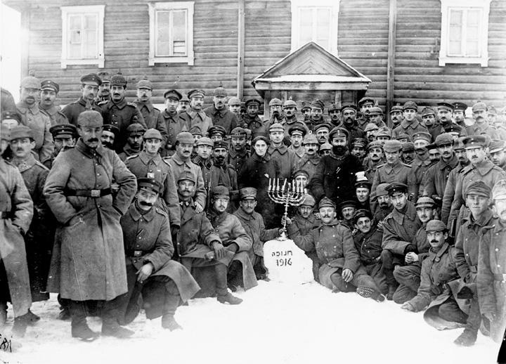 Chanukka Gottesdienst, Juden im Ersten Weltkrieg