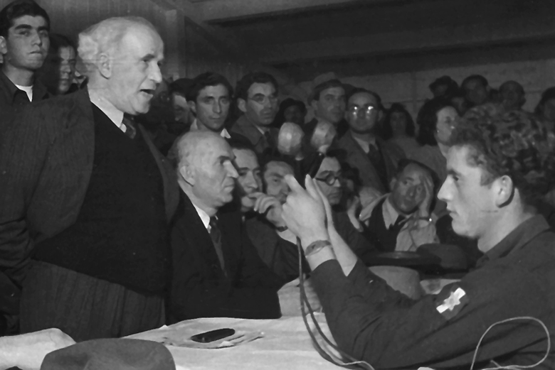 David Ben Gurion im DP-Camp Frankfurt-Zeilsheim