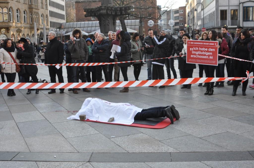 Kölner Gedenkaktion anlässlich des 8. Gedenktages der Ermordung von Hrant Dink