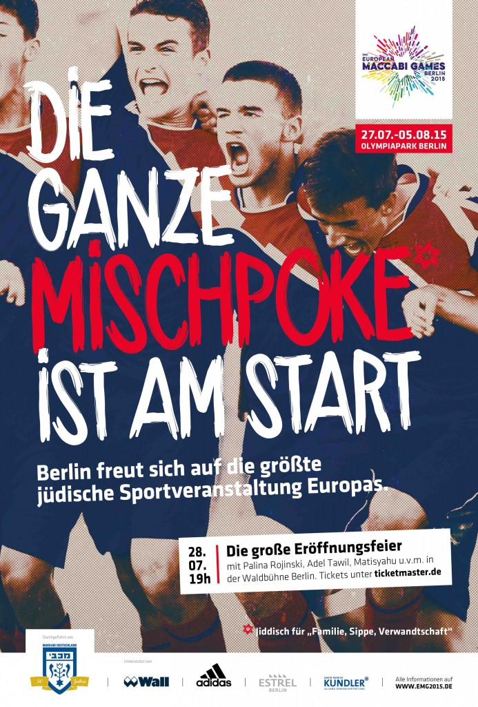 Ganz Berlin wird meschugge für die European Maccabi Games