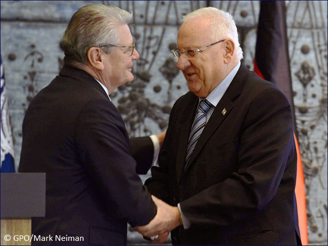 President Rivlin meeting with German President Joachim Gauck in Jerusalem