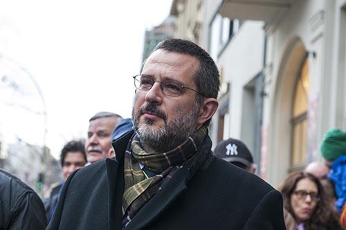 Kundgebung für sofortige Neuwahlen in der Jüdischen Gemeinde zu Berlin