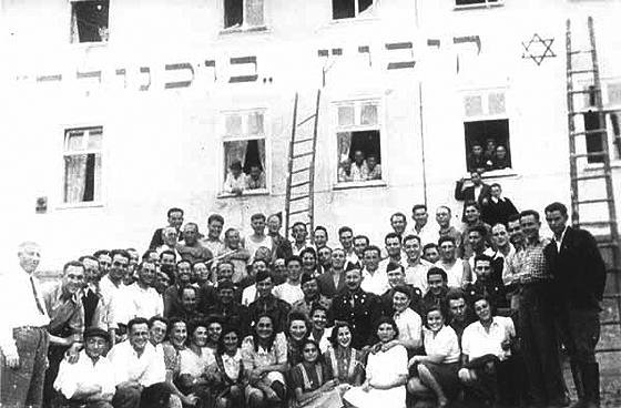 Mitglieder des Kibbuz Buchenwald in Geringshof