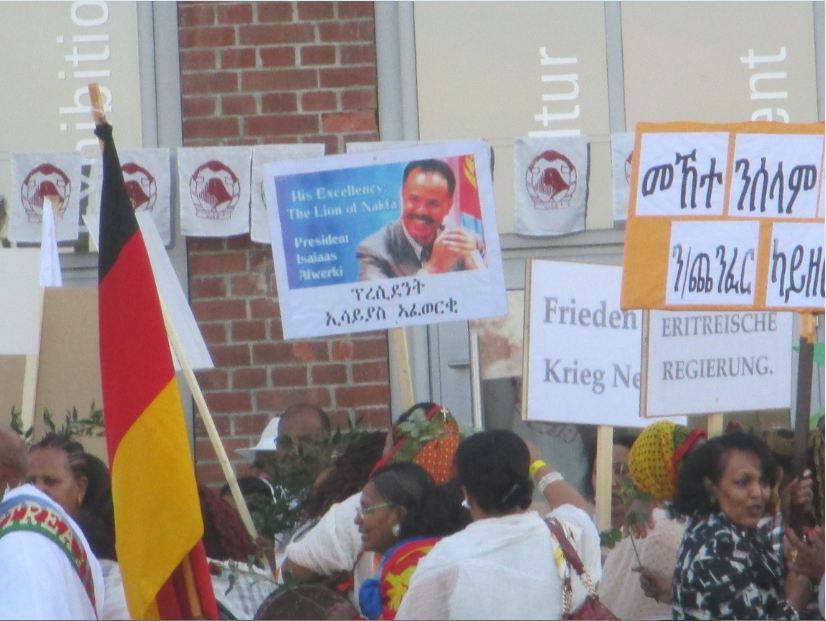 Goeppingen, 22.11.14., Demo und Gegendemo Eritrea