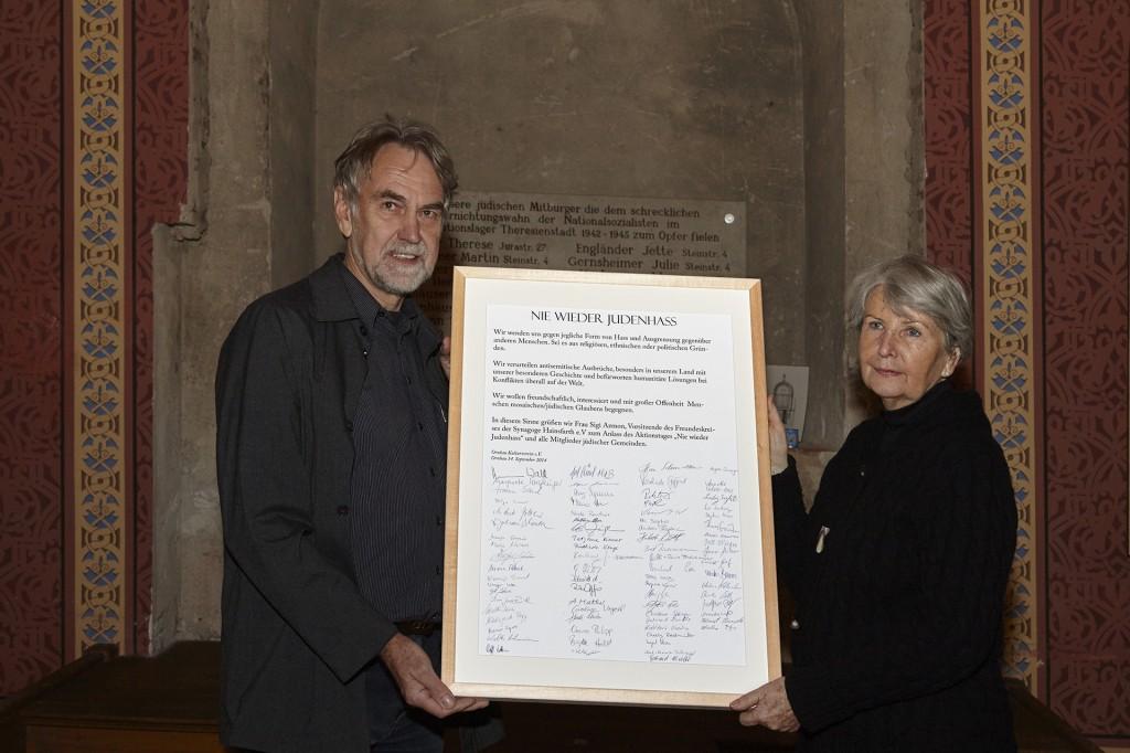 Gedenken zur Reichspogromnacht in der einstigen Synagoge Hainsfarth