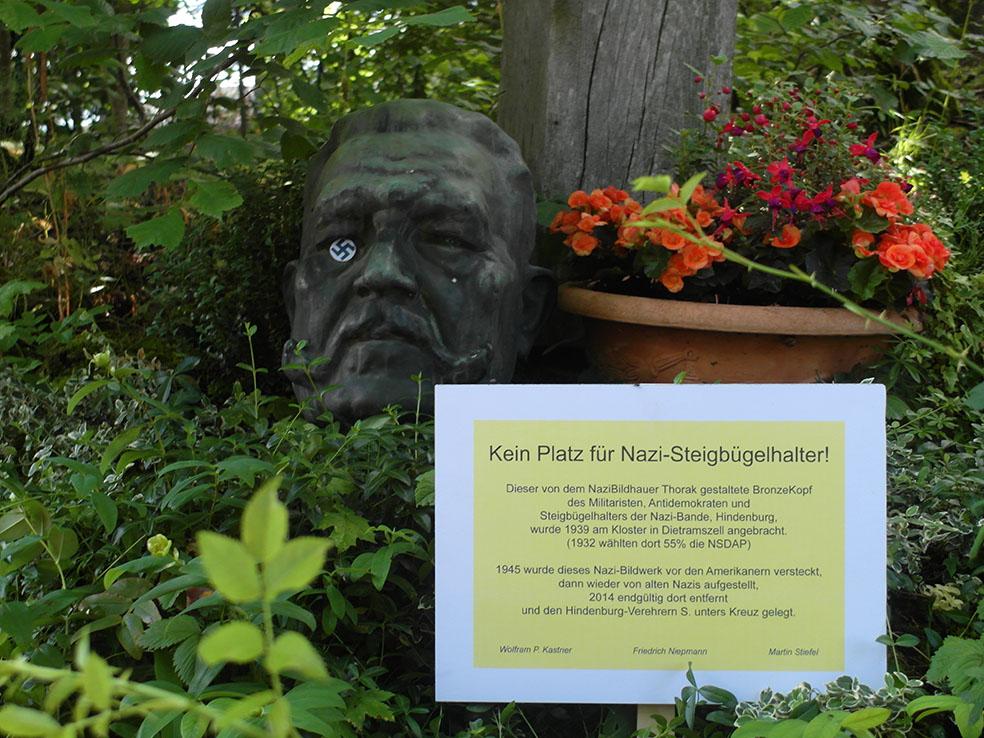 Hindenburg Büste in Dietramszell
