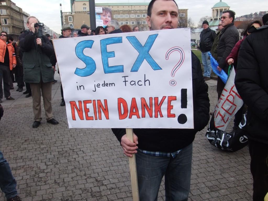 Homophobe Demonstration in Stuttgart