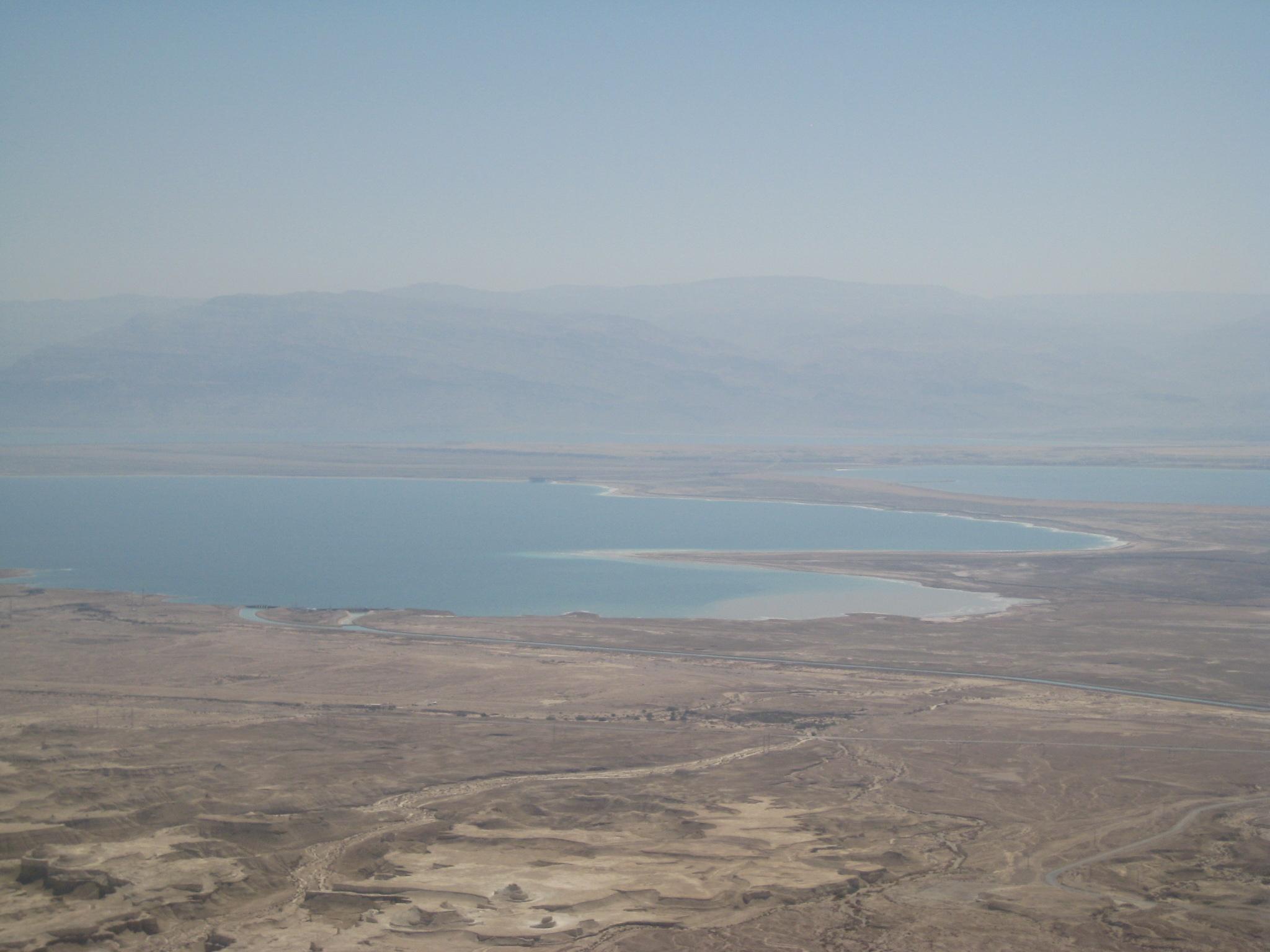 Blick aufs Tote Meer von Massada, (c) haGalil