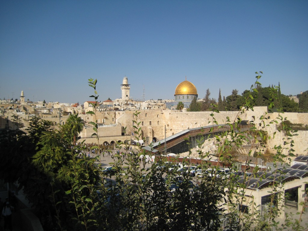 Tempelberg und Klagemauer in Jerusalem