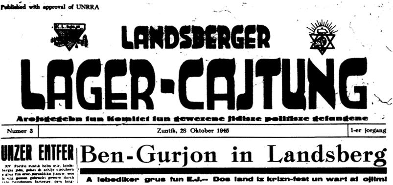 Landsberger Lager-Cajtung vom 28. Oktober 1945