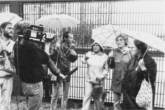 Interview mit empörten Bürgern vor dem Zaun zur geplanten Wiederaufarbeitunganlage Wackersdorf