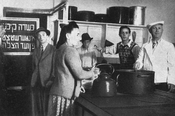 Vom Vaad Hatzala unterstützte Koschere Küche in der oberbayerischen DP-Gemeinde Mittenwald, Repro: nurinst-archiv