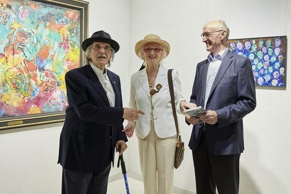 Thomas Frankl, Inge Ruth Frankl, Winfried Nerdinger, v.l. (Foto: Orla Connolly)