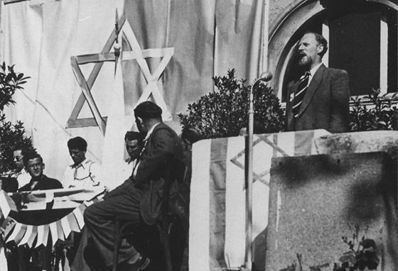 In Regensburg wird die Staatsgründung Israels gefeiert. Repro: © Archiv Andreas Angerstorfer, Regensburg