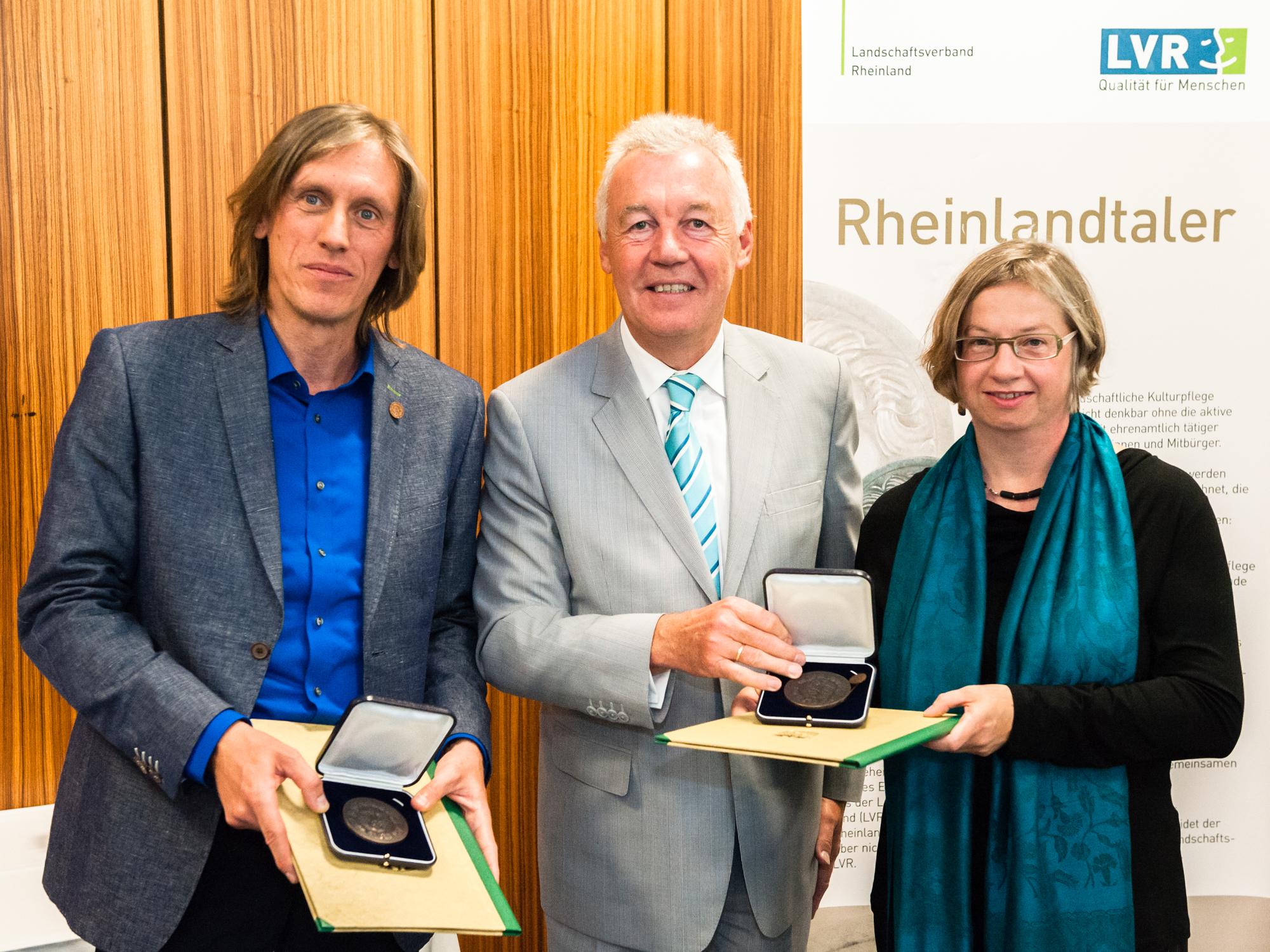 Verleihung des Rheinlandtalers an Dr. Ursula Reuter und Adrian Stellmacher