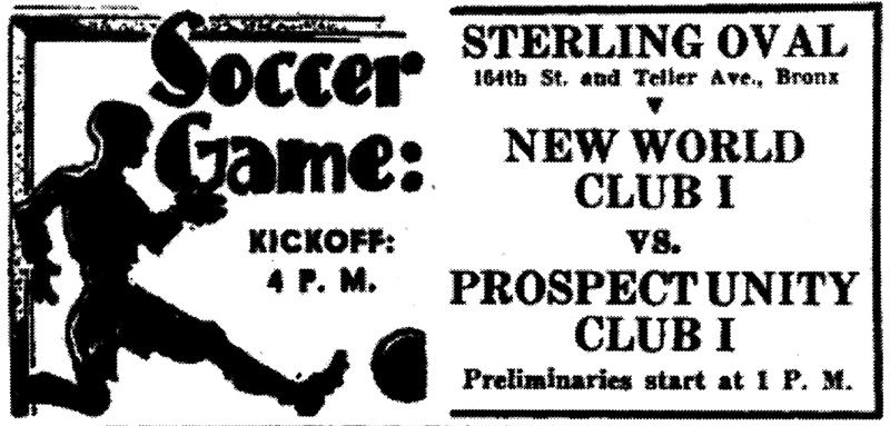 Die Spiele des New World Club wurden regelmäßig im Aufbau angekündigt.Repro: nurinst-archiv
