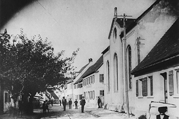 Die Schopflocher Synagoge um 1910. Repro © jgt-archiv