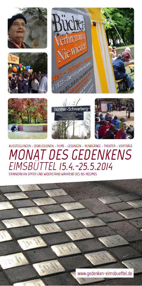 Monat des Gedenkens in Hamburh-Eimsbüttel