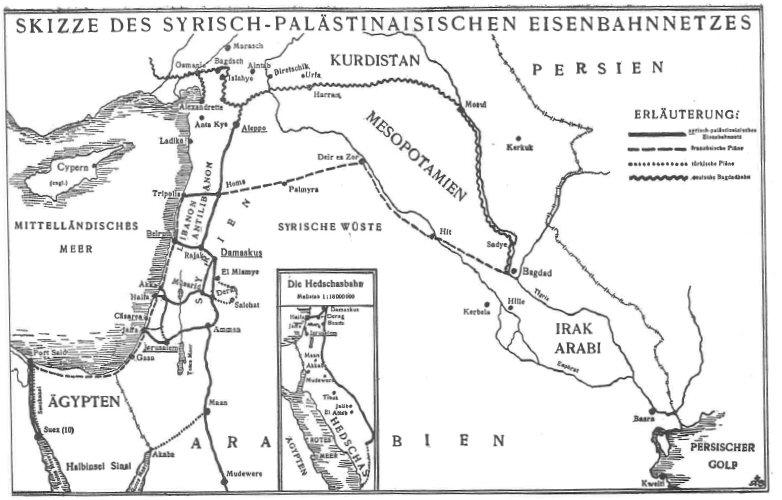 Syrisch-palästinensisches Eisenbahnnetz