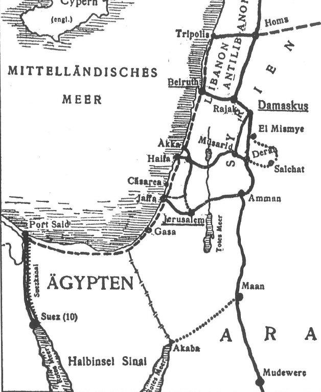 Eisenbahnnetz Palästina