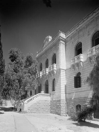 Der Hinterhof des Funkhauses im Jerusalem 1939