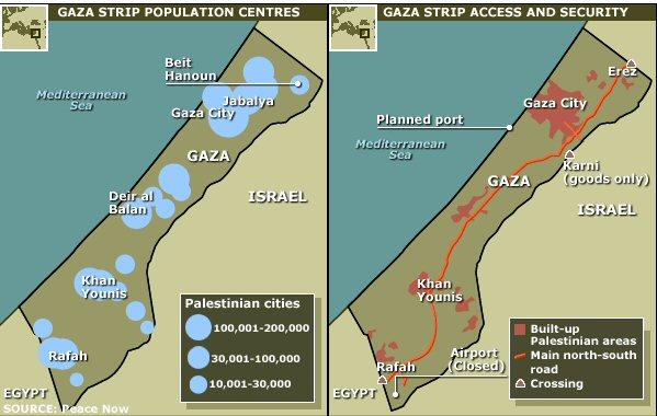 Unbesiedeltes Terrain in Gaza