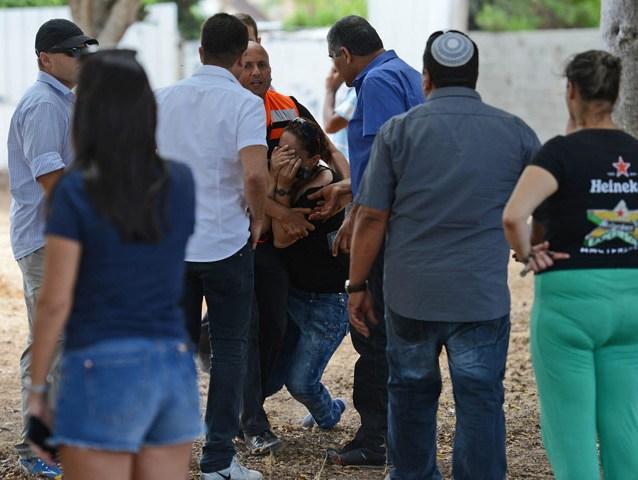 Nach einem Raketenangriff in Ashkelon, 13.7.2014, (c) GPO/Kobi Gideon