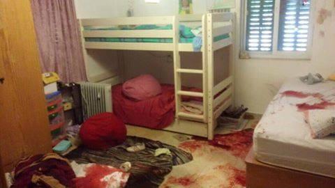 Das Kinderzimmer nach der Tat (Foto: IDF)