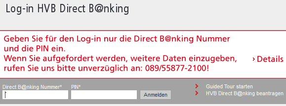 Gefahr beim online Banking