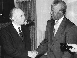 Präsident Shimon Peres und Nelson Mandela