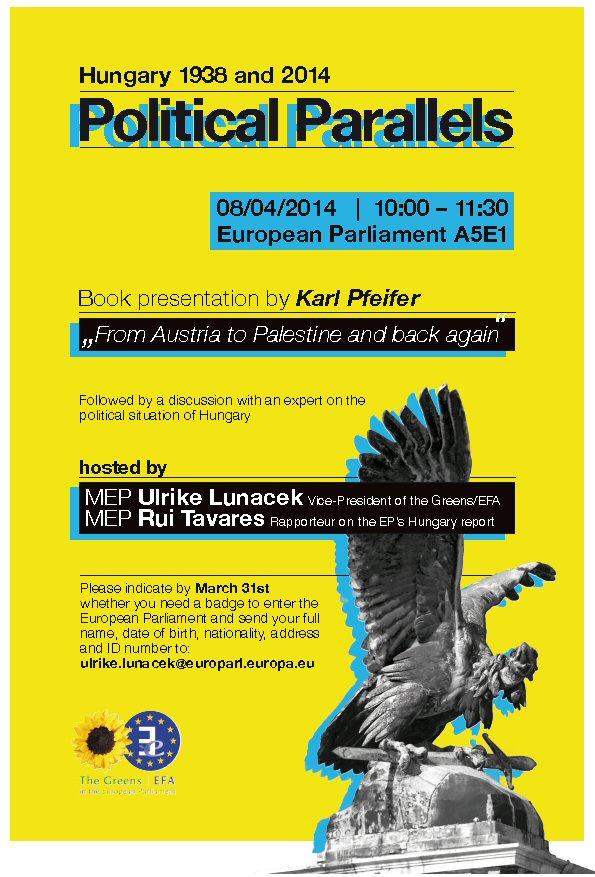 Karl Pfeifer - Book Presentation European Parlament