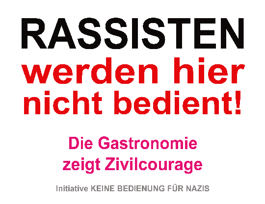 Keine Bedienung für Nazis