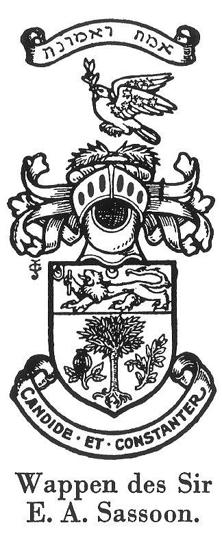 Wappen des Sir E.A. Sasoon