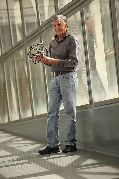 Nobel Preisträger (2011) Prof. Dan Shechtman an der Technion Hochschule Haifa
