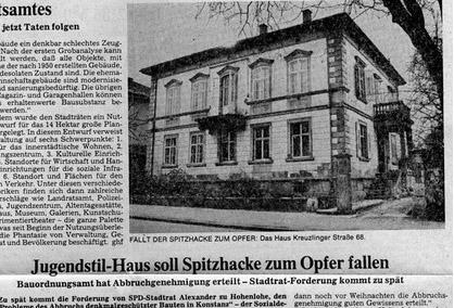 Villa am Kreuzlinger Zoll in Konstanz