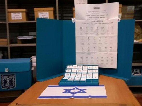Wahlzettel für die Knessetwahlen