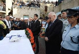 Bei der Beerdigung von Zidan Seif